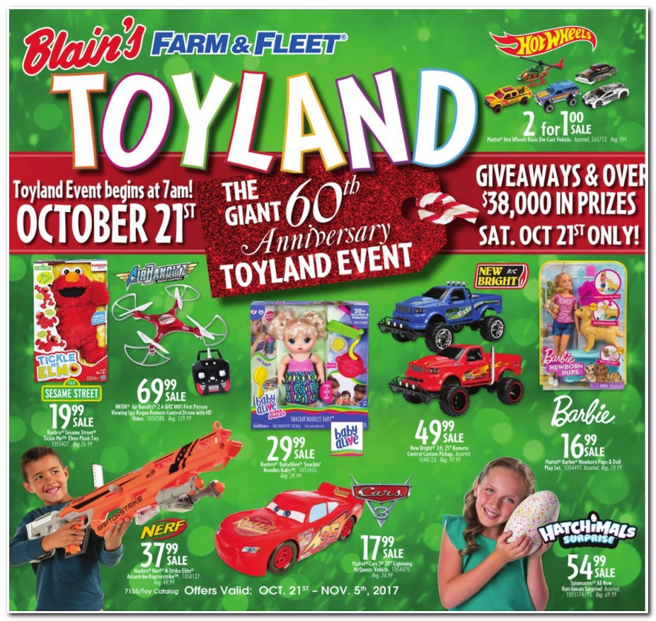 Blains Farm Fleet Toy Catalog page 1